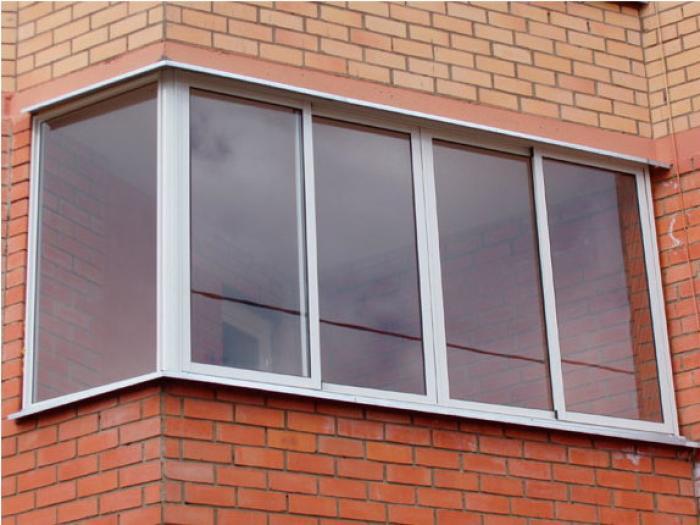 Аллюминевые балконные рамы